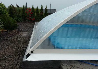 Zastřešení bazénu Poolor Classic - krémová bílá