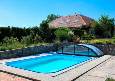 Zastřešení bazénu POOLOR 3R Antracit