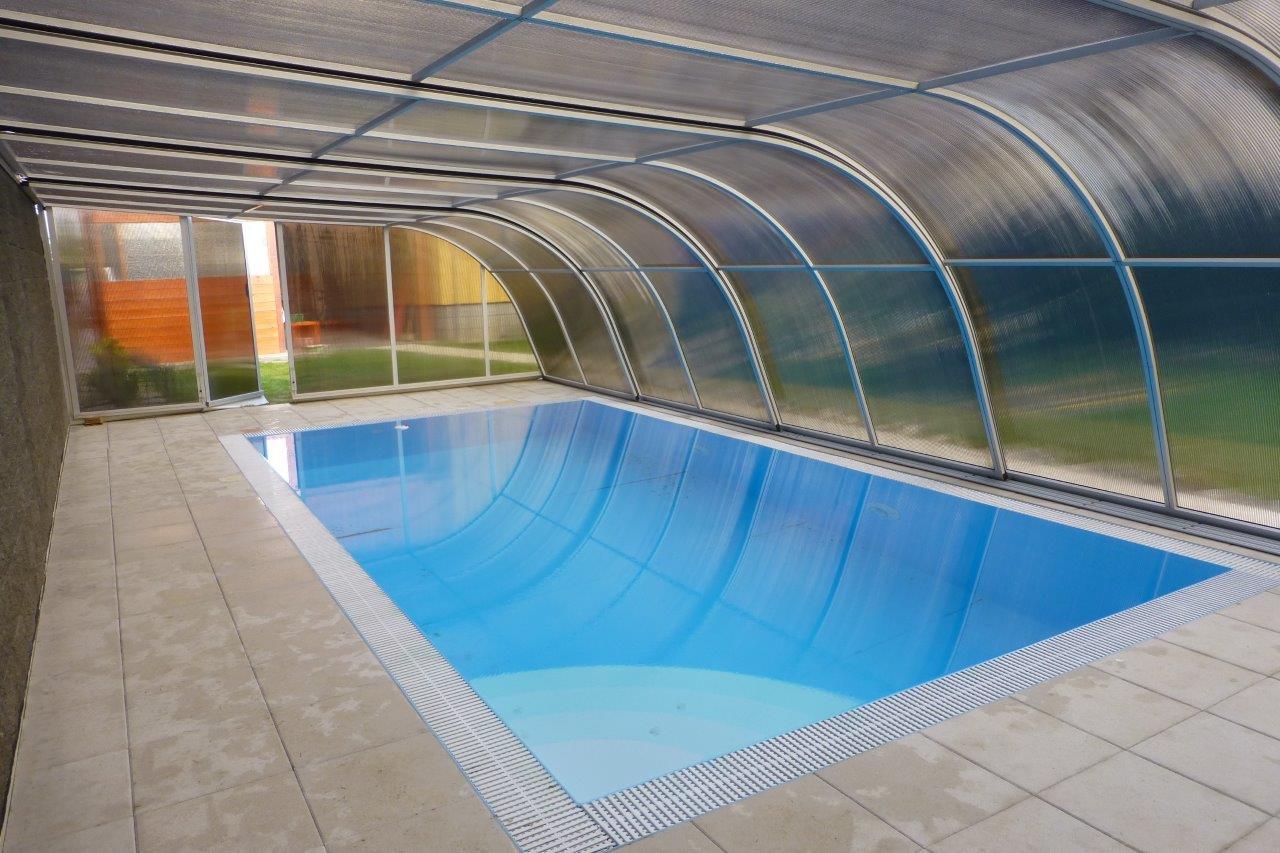 Zastřešení bazénu Poolor Wall - elox