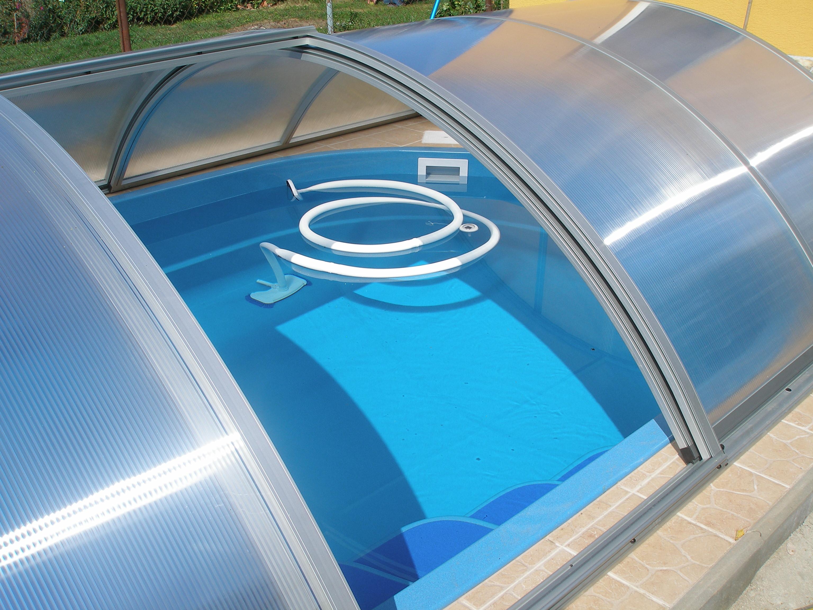 Zastřešení bazénu Poolor Classic - elox  - boční dveře