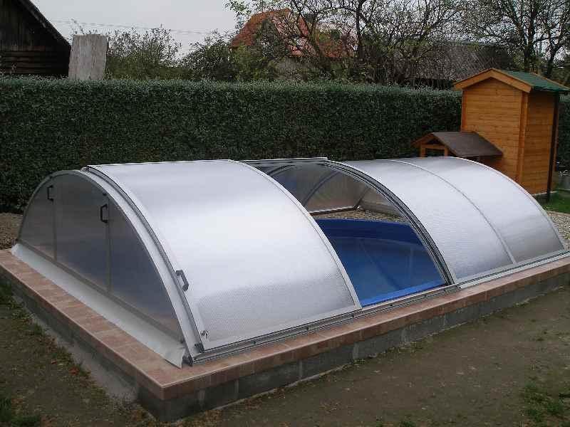 Kryt bazénu Poolor - boční dveře